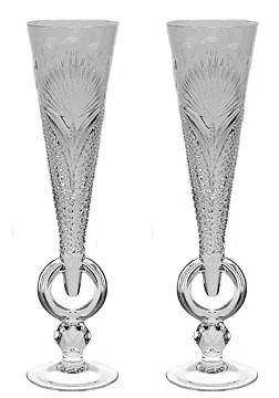 Свадебные хрустальные бокалы купить в москве